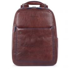 """Piquadro Blue Square S Matte Fast Check Computer 15.6"""" Backpack Dark Brown"""