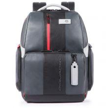 Piquadro Urban Fast Check PC Backpack 15.6'' Black/Grey
