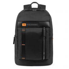"""Piquadro PQ-BIO Nylon Computer Backpack 15.6"""" Black"""