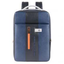 Piquadro Urban Expandable Slim Backpack 15.6'' Blue/Grey