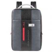 Piquadro Urban Expandable Slim Backpack 15.6'' Grey/Black