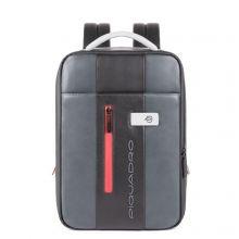 Piquadro Urban Expandable Small Size Slim Backpack 14'' Grey/Black