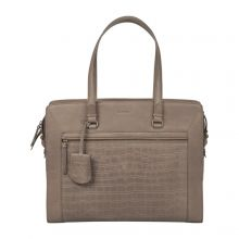 """Burkely Croco Cassy Workbag 15.6"""" Taupe"""