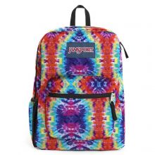 JanSport Cross Town Backpack Red/ Multi Hippie Days