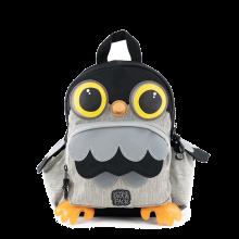 Pick & Pack Fun Rugzak S Owl Shape Grey Melange