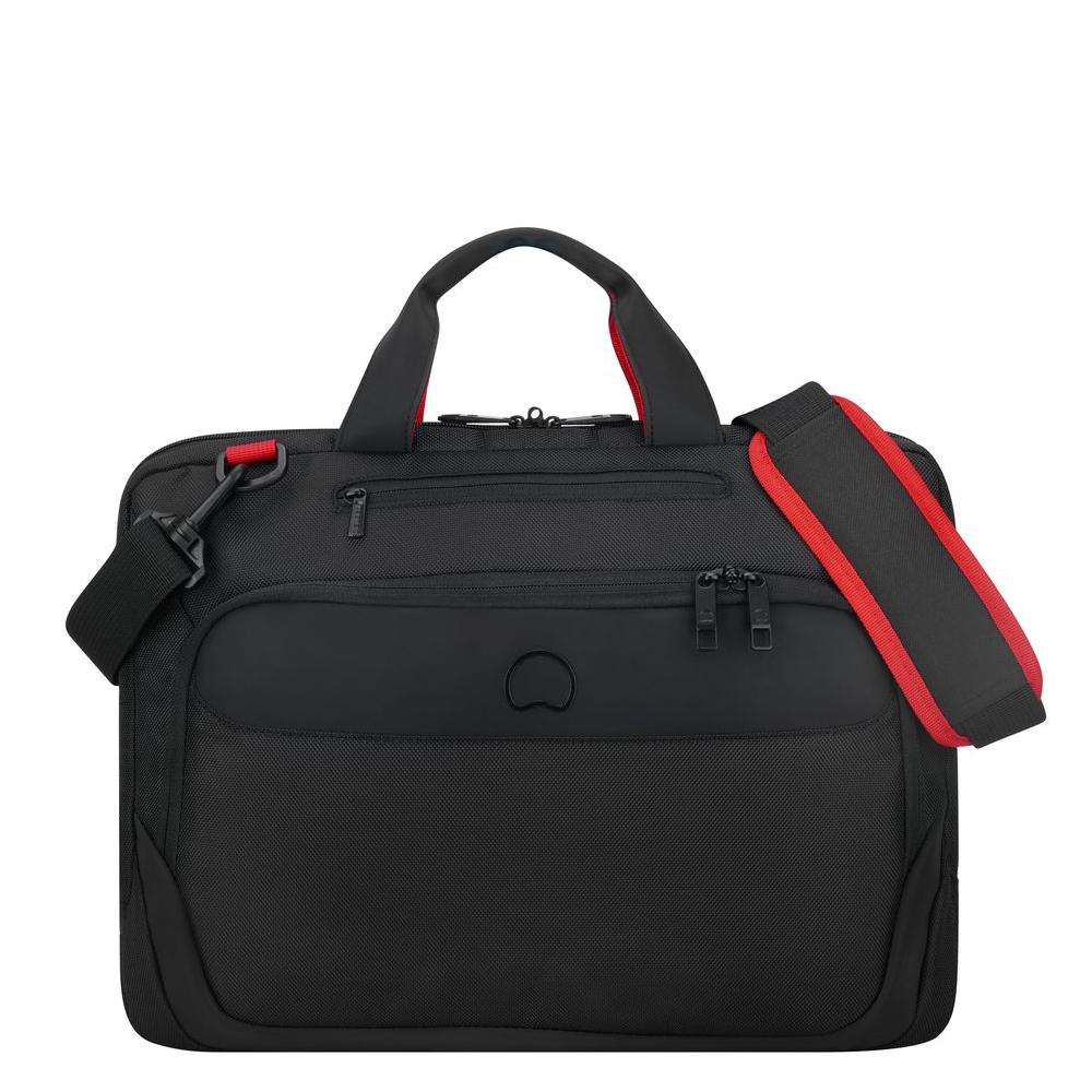 Delsey Parvis Plus Laptop Bag 1-CPT 15.6 Black