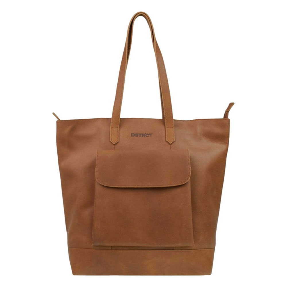DSTRCT Riverside Shopper XL Front Pocket Cognac