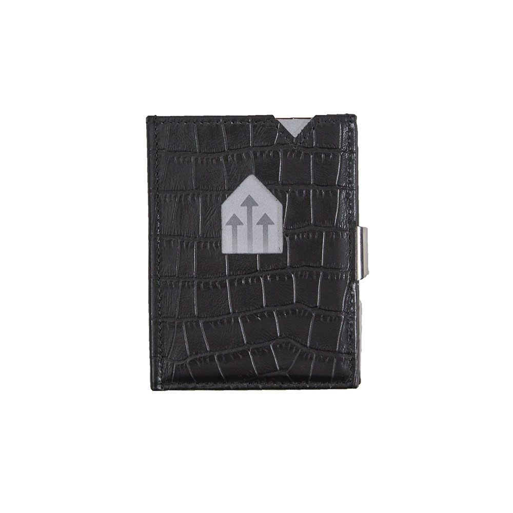 775b5cc7333 Exentri Wallet met RFID Bescherming Caiman Black