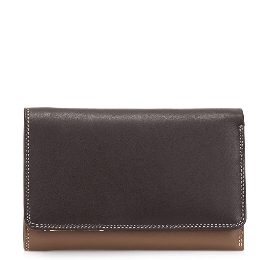 ff3d5f6f605 Mywalit Medium Tri-Fold Wallet Outer Zip Portemonnee Mocha