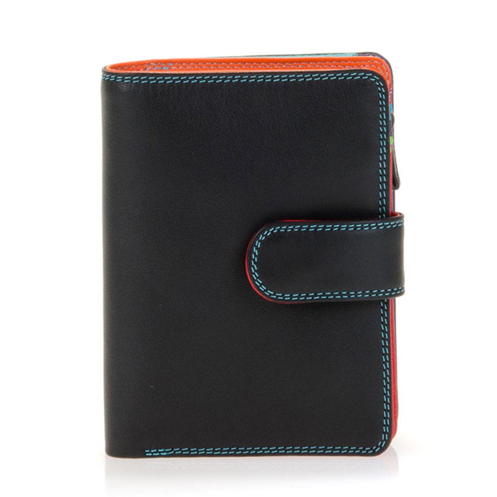 Mywalit Medium Snap Wallet Portemonnee Black/ Pace - Dames portemonnees