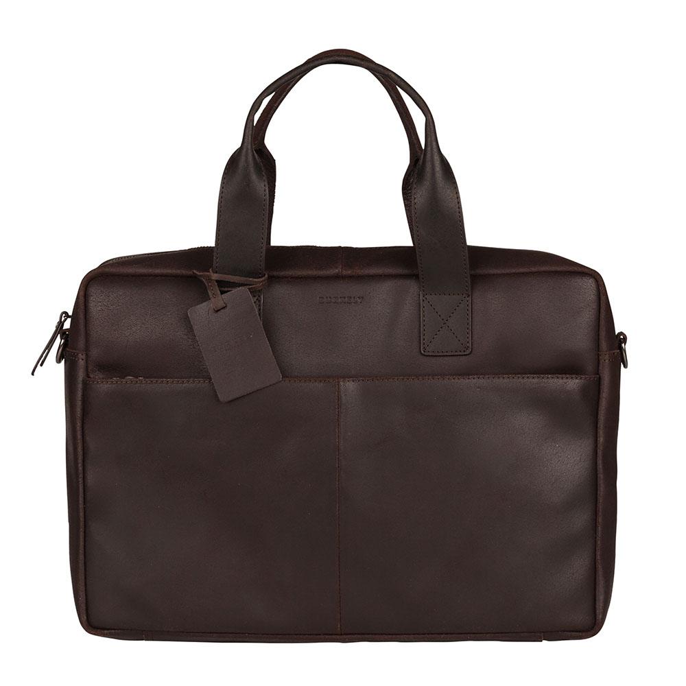 Burkely Vintage River Worker 15.6 Laptop Bag Brown