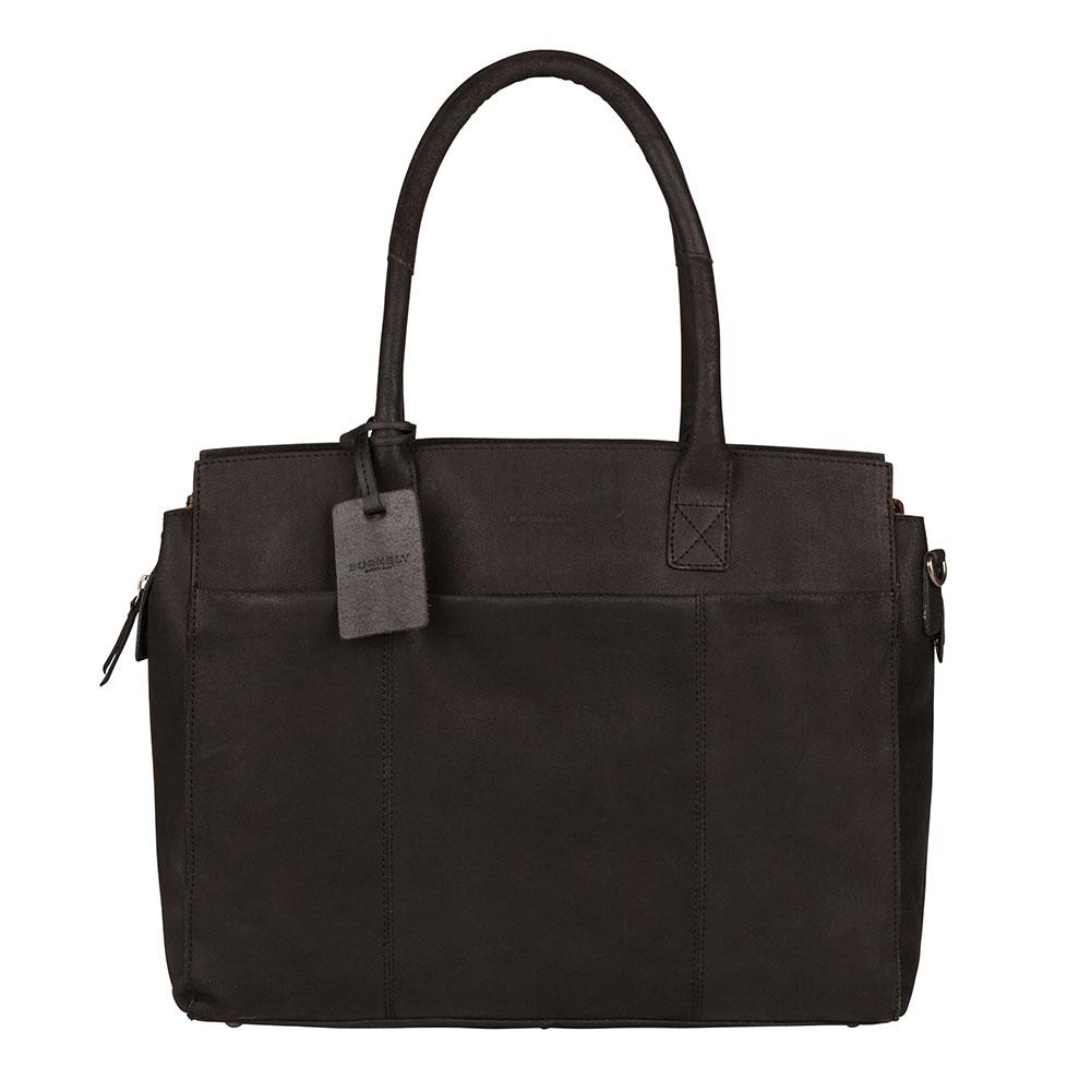 Burkely Vintage Doris Laptop Bag 15.6 Schoudertas Black