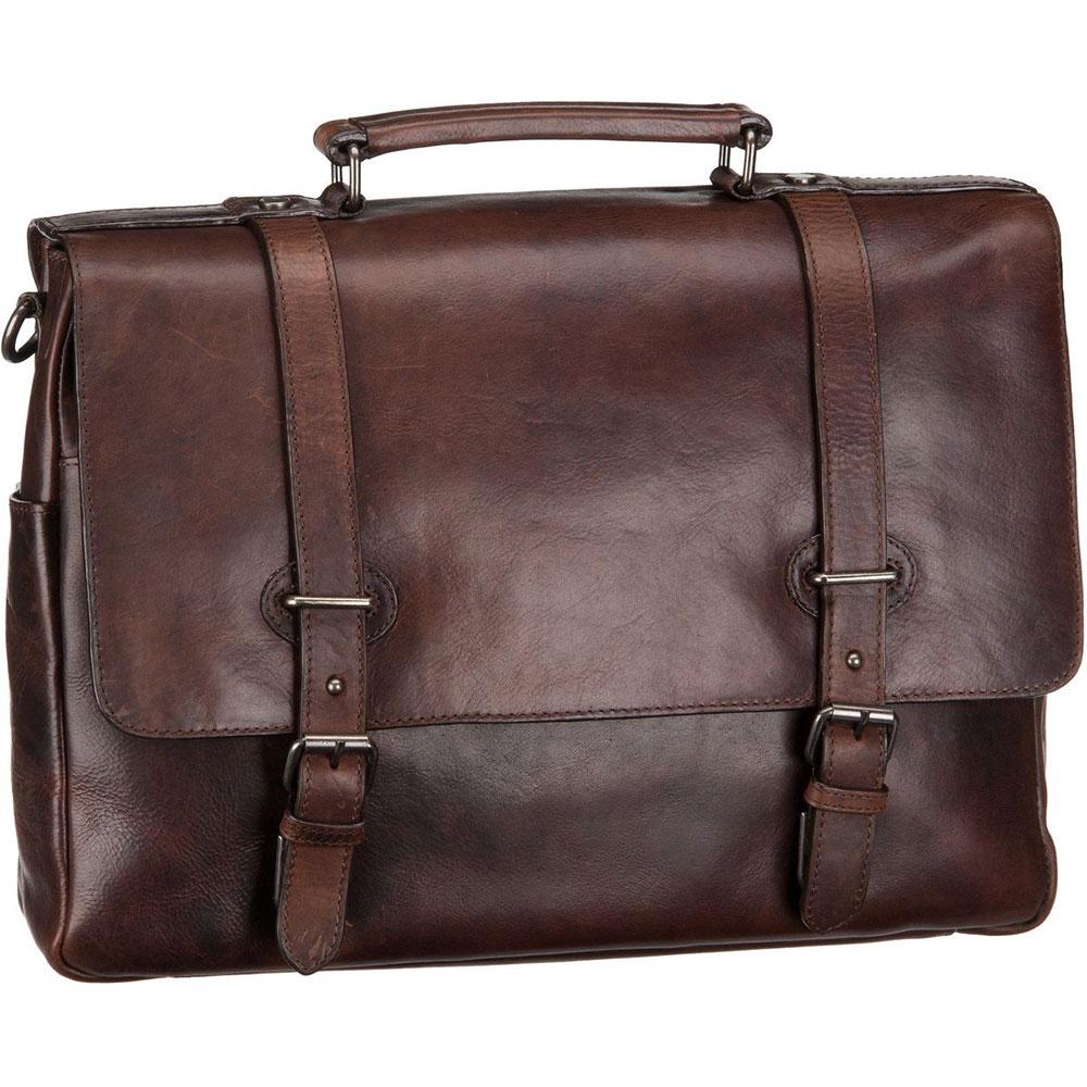 Leonhard Heyden Roma 2-Vaks Briefcase Brown