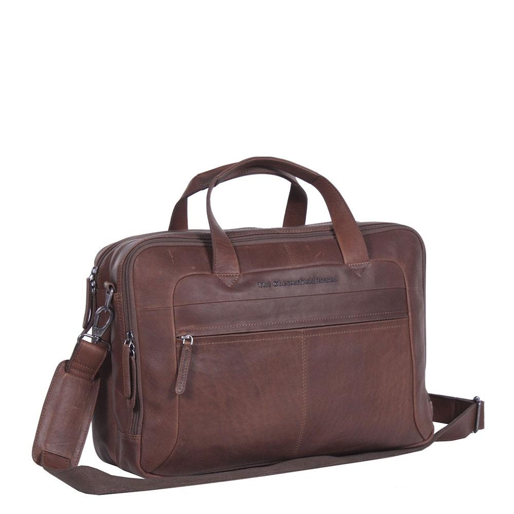 Chesterfield Ryan Laptop Schoudertas Large 17 Brown