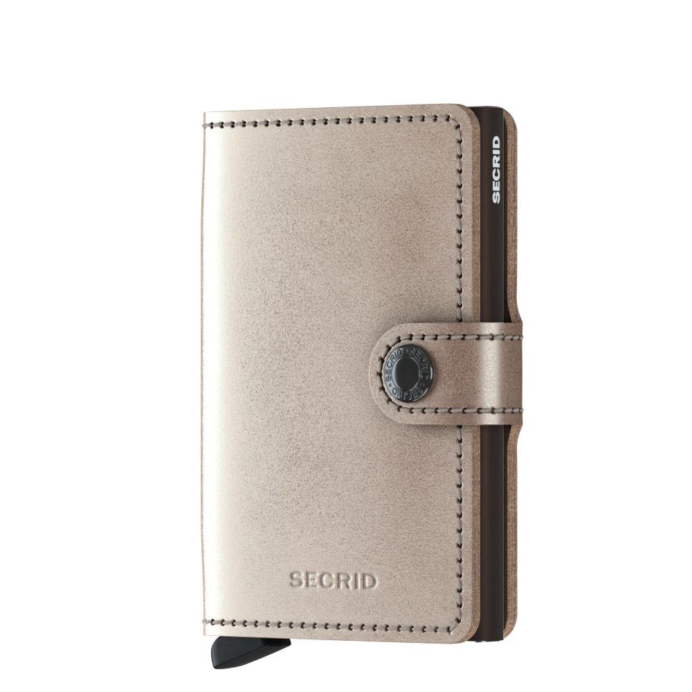 5002aa64ab2 Secrid Mini Wallet Portemonnee Metallic Champagne Brown