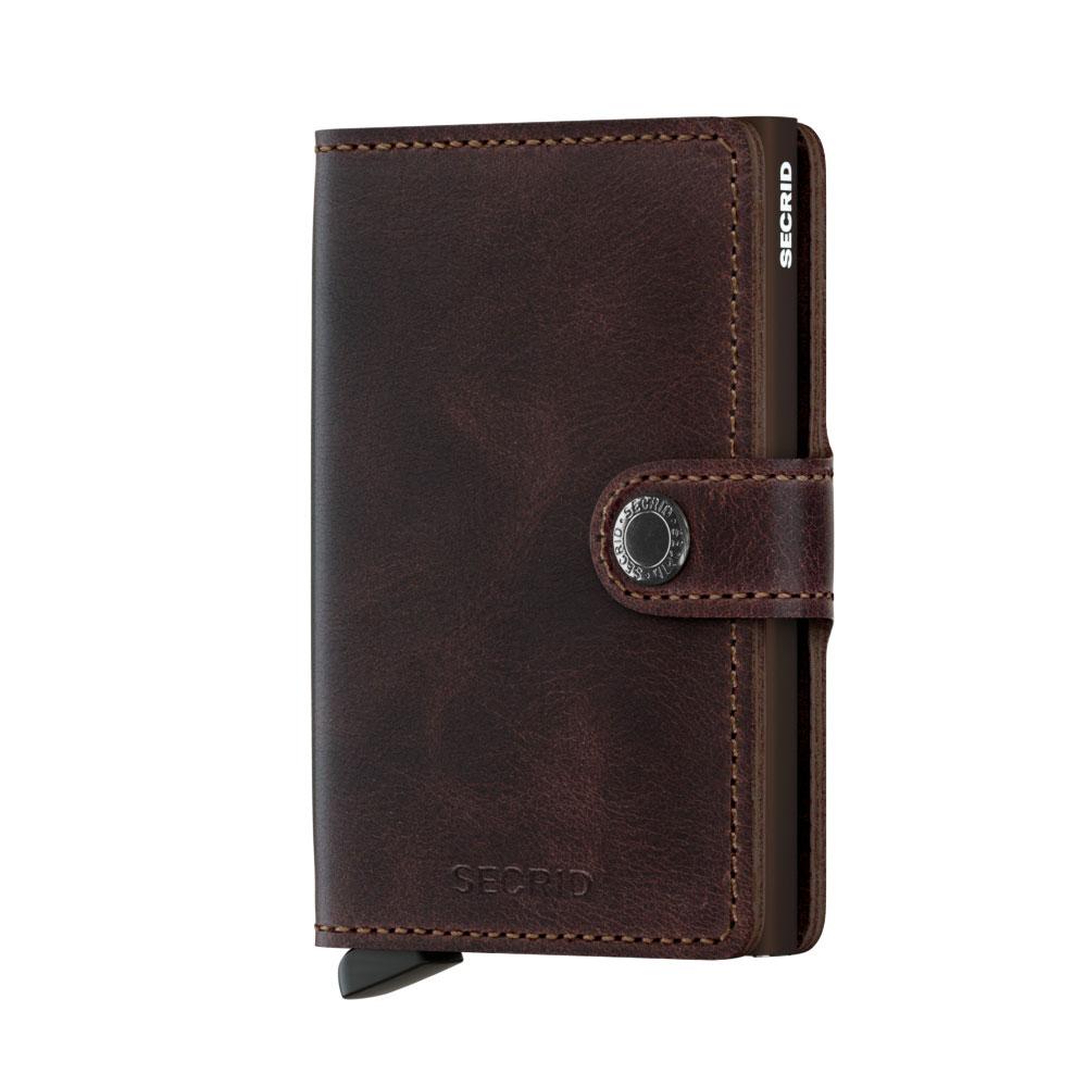 Secrid Mini Wallet Portemonnee Vintage Chocolate - Dames portemonnees