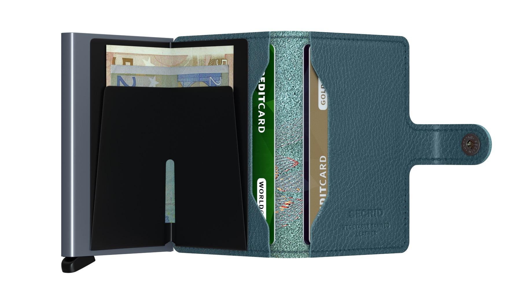 a50ab25caea Secrid Mini Wallet Portemonnee Stitch Magnolia Petrolio
