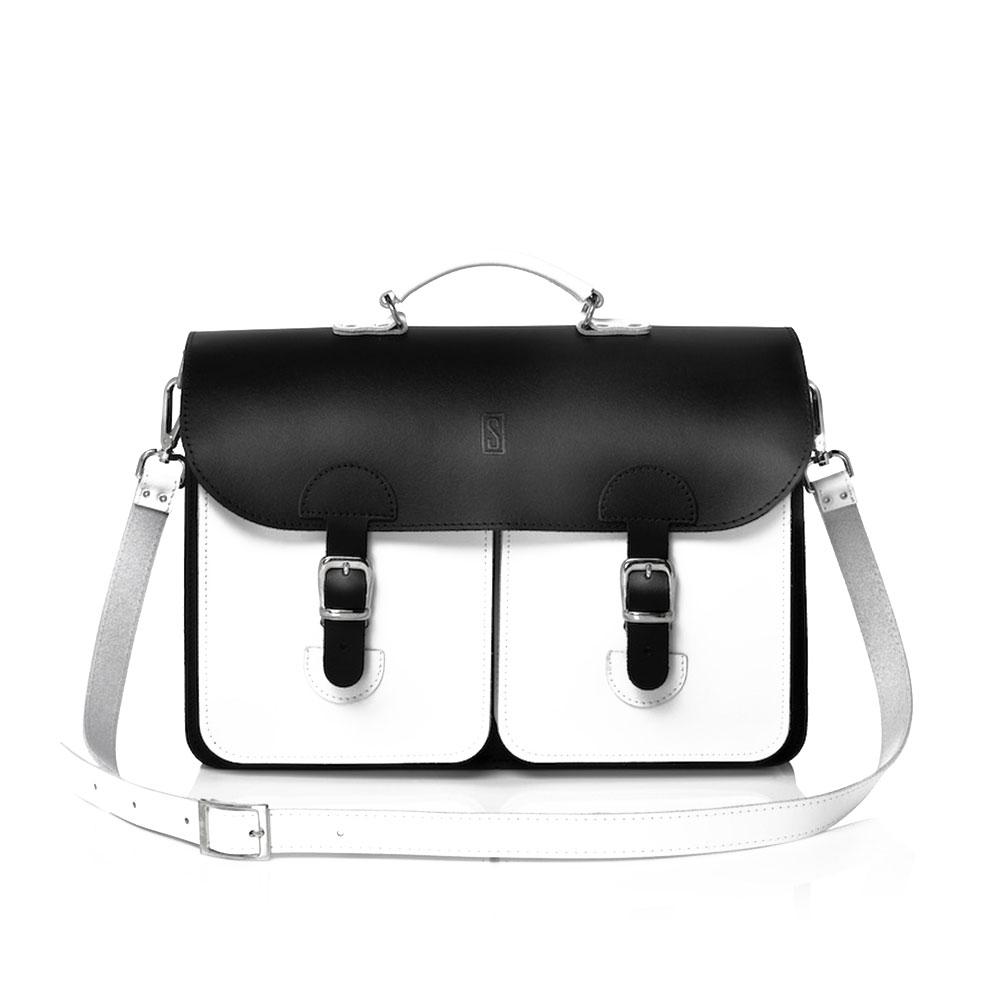 e5899a23636 OldSchool Bags Schooltas Extra Large Zwart-Wit