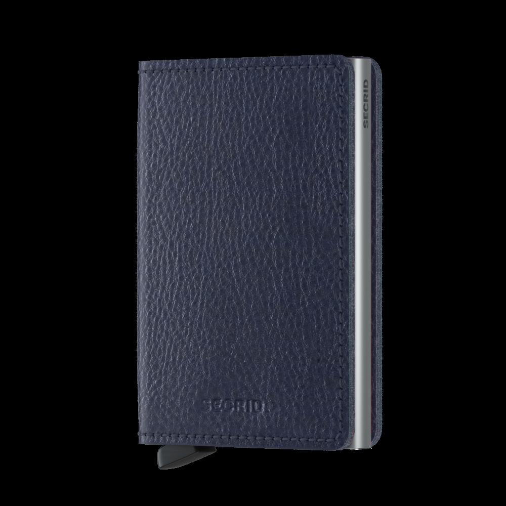 Secrid Slim Wallet Portemonnee Veg Navy - Silver