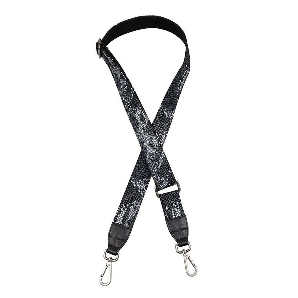 Cowboysbag X Bobbie Bodt Shoulder Strap Emerald Long Snake Black And White