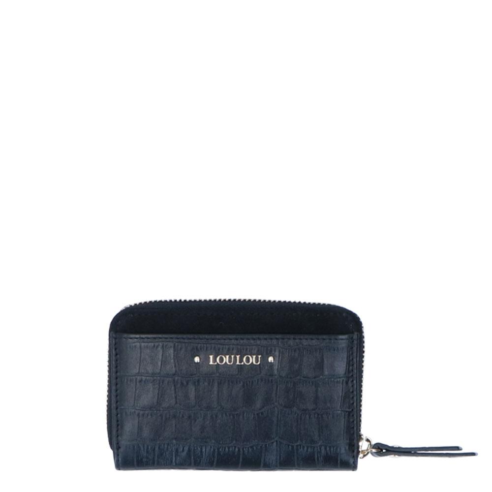LouLou Essentiels SLB Classy Croc XS RFID Wallet Black