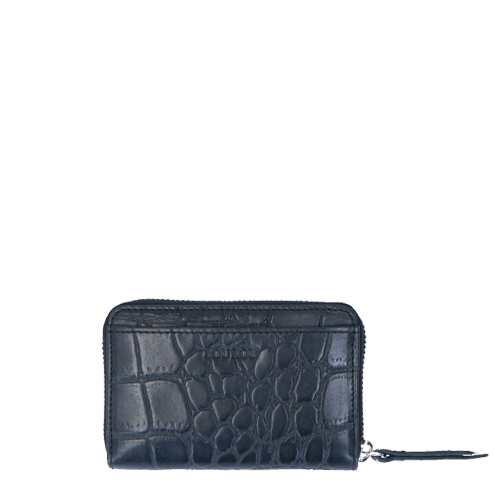 LouLou Essentiels SLB Vintage Croco XS RFID Wallet Black