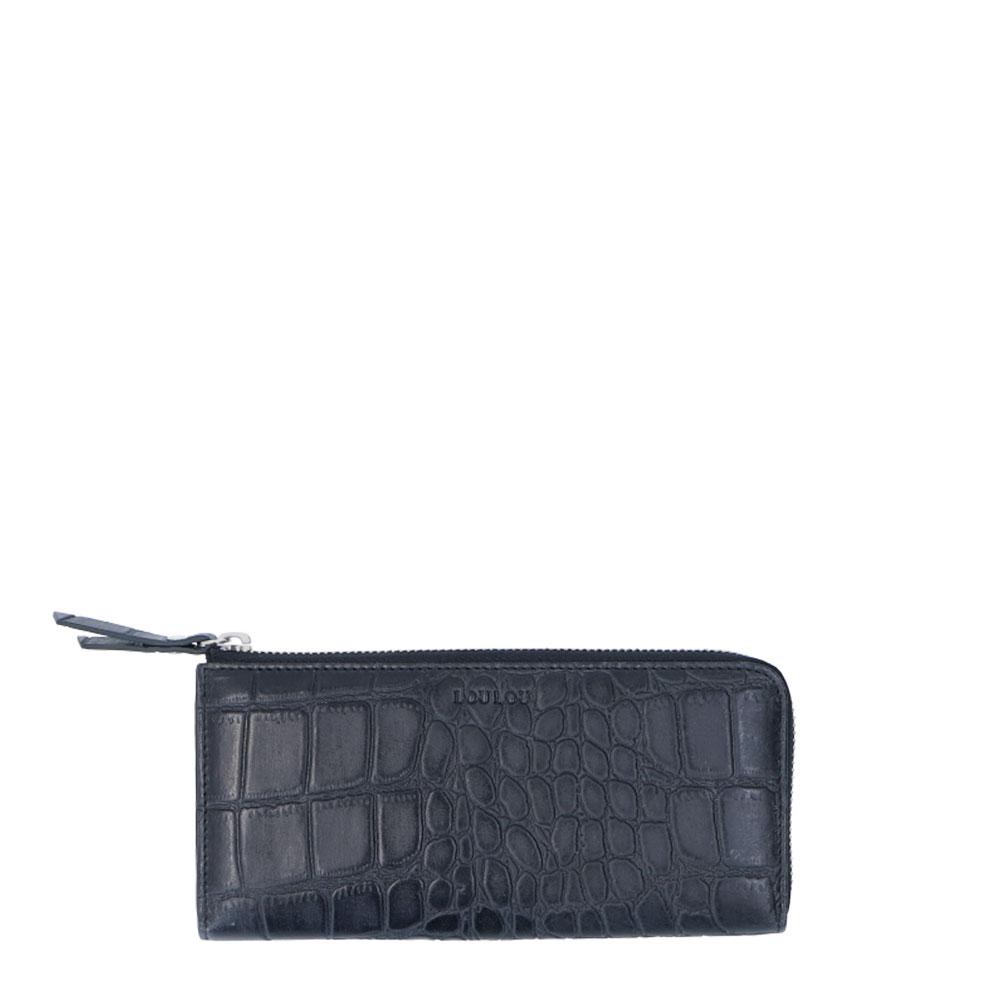 LouLou Essentiels SLB HZ Vintage Croco RFID Wallet Black
