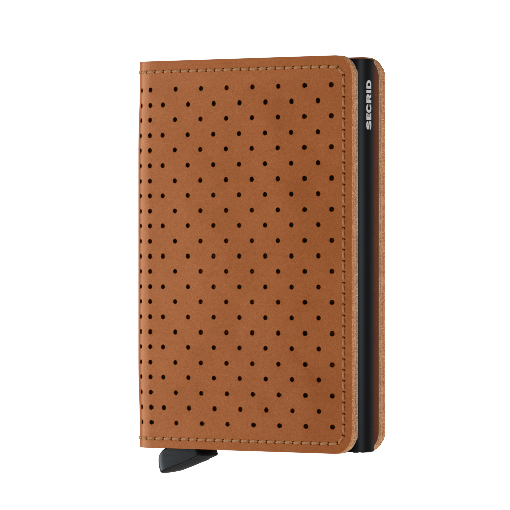 Secrid Slim Wallet Portemonnee Perforated Cognac