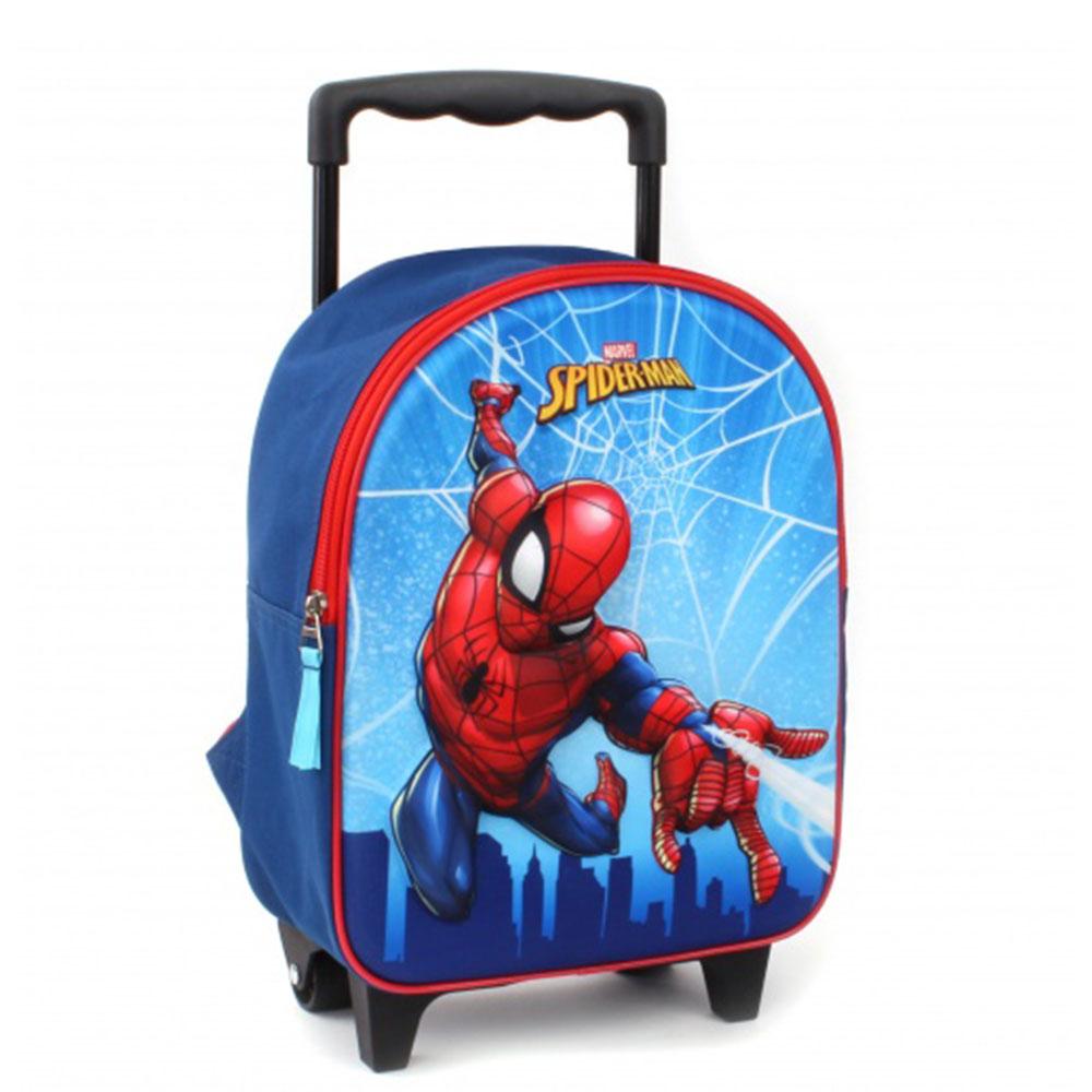 Kidzroom Soft Trolley 2 Wheel Spider Man Web Heart - Kinderkoffers