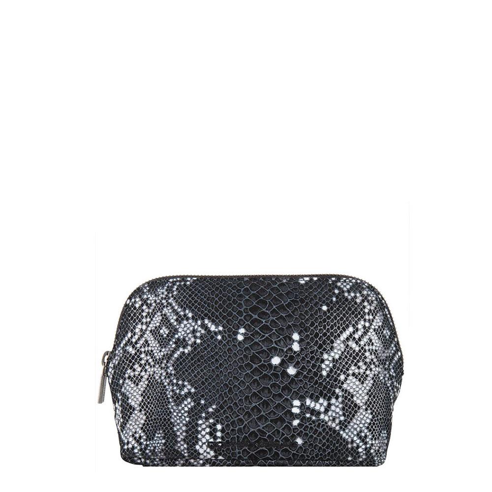Cowboysbag X Bobbie Bodt Wash Bag Ruby Snake Black And White